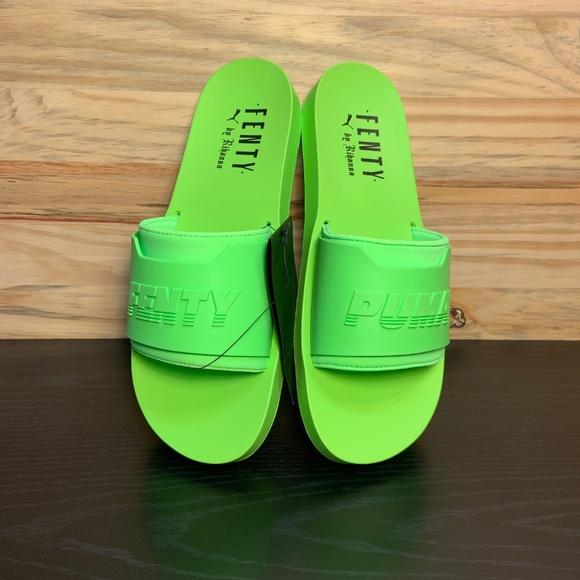 a7dbeb55e18c Puma Fenty by Rihanna Riri Green Fenty Surf Sandal